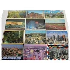 Vintage Lot, 12 Unposted Los Angeles Area Color Postcards- EUC