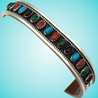 Vintage sterling silver cuff bracelet turquoise