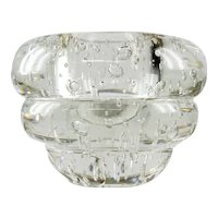 Massive Mid Century Modern Crystal Paperweight Vase