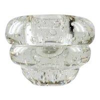 Massive Mid Century Modern Crystal Paperweight Vase