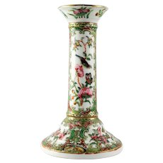 Antique Chinese Export Rose Medallion Candlestick