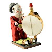 Rare Vintage German Mechanical Clown Squeeze Toy
