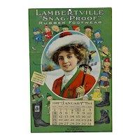 Scarce 1914 Lamberville Girl Brownies Comic Calendar