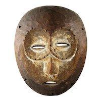 Fine Vintage Lega Bwami African Carved Wood Mask