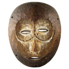 Fine Vintage Lega Bwami African Carved Wood Mask