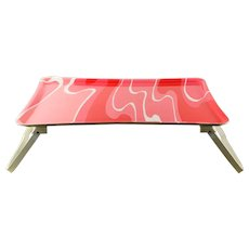 1970s Mod Hot Pink serving tray Bed Table