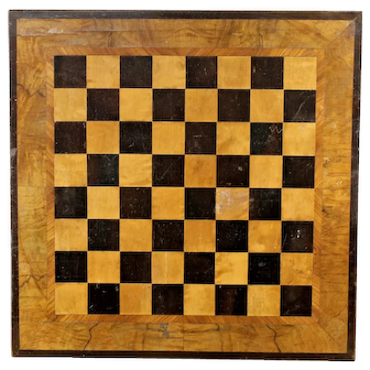 Antique 19th C Marquetry Checkerboard