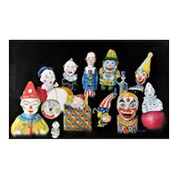 Vintage clown toys original Painting