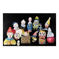 Vintage clown toys original Painting