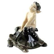 Royal Copenhagen Fawn on Tortoise Porcelain Figure #858