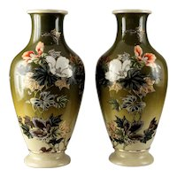Pair of Large 19th Century Japanese Satsuma Vases