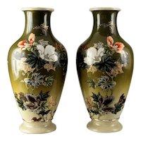 Pair of Large 19th Century Japanese Satsuma Vases