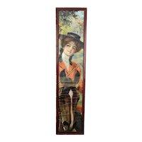 "Original 1912 Pabst Extract ""American Girl"" Yard Long Print"
