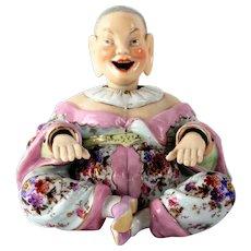 Antique Ernst Bohne Hand Painted Porcelain Pagoda Nodder