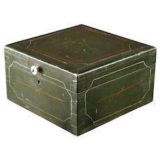 Antique 19th Century Norwegian Pine Brides Box.