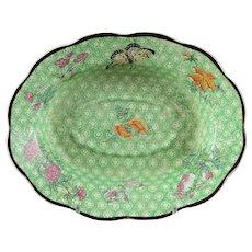 Rare Mottahedeh Green Cornelia Staffordshire Soap Dish