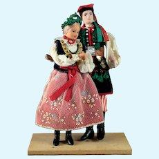 Pair Vintage Polish Cepelia Lalki Regionalne Dolls