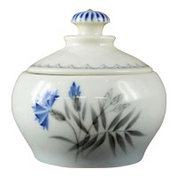 "Bing & Grondahl ""Cornflower"" mini Sugar Bowl w/lid"