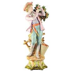 Large Victorian German Bisque Figure