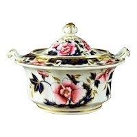 Antique Ridgeway English Porcelain Covered Sugar Bowl Circa 1825