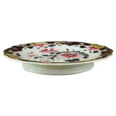 Antique Ridgeway English Porcelain Cake Stand Circa 1825