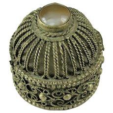 Antique Persian Silvered Snuff Box