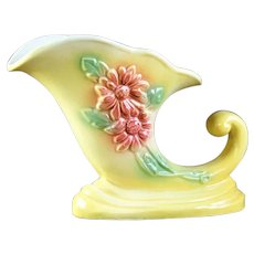 "Vinatge Hull Art Pottery ""Sunglow"" Cornucopia Vase"