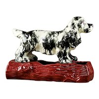 Mid Century Le Bow California Pottery Spaniel Window Box Planter