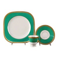 "Coxon American Belleek ""Warrin"" Dessert Set"