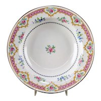 Royal Worcester Pink Floral Soup Plate # W9202