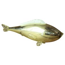 "Victorian Mercury Glass ""End of Day"" Fish Sculpture"
