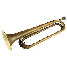 Antique Model 1892 Brass bugle