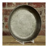 18th Century Pewter Small Basin