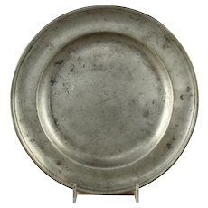 Pewter Plate, Samuel Kilbourn, Baltimore, Maryland, 1814-39