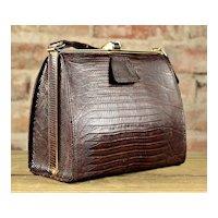 Vintage Elbief Mid Century Alligator Handbag