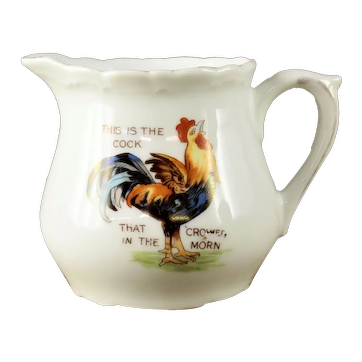 "Vintage 3 Crown Germany ""House that Jack built"" Porcelain Childs Milk Pitcher"