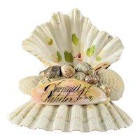 Victorian Sailors Sweetheart Shell Art Souvenir Waterloo, Iowa