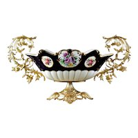 Dresden Style Porcelain & Gilt Metal Centerpiece