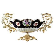 Dresden Style Porcelain & Gilt Metal Centerpiece