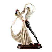 "Large 21"" A. Santini Art Deco Style ""Tango Dancers"""