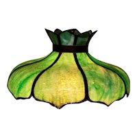 Antique Hanging Slag Glass Tulip Shade Lamp