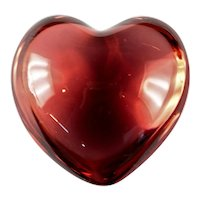 Baccarat French Crystal Puffed Heart