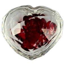 Vintage Swarovski Austrian Cut Crystal Heart Box