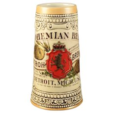 "Stroh ""Bohemian Beer"" Stein"