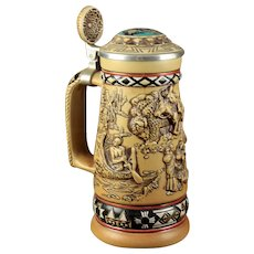 """Avon Limited Edition """"Indians of the American Frontier"""" Beer Stein"""