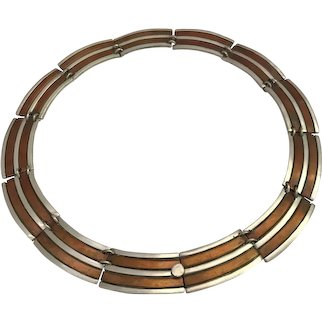 Copper and 925 Silver TNC Hecho Mexican Necklace