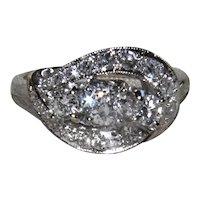 1.15Ct 3 Stone Diamond Bypass Ring