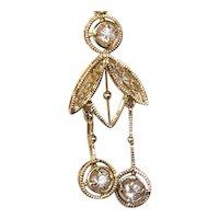 Antique Edwardian Diamond Negligee Pendant