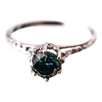 Rare Blue Diamond Engagement Ring