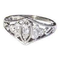 1950's 14K diamond ring